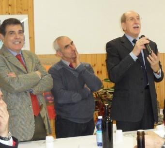 Il presidente Sappa, a Mendatica, alla festa di S. Caterina, con il sindaco Pelassa ed il vice presidente Porro, già primo cittadino