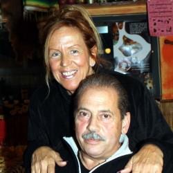 Italo Ciccione e la moglie Anna