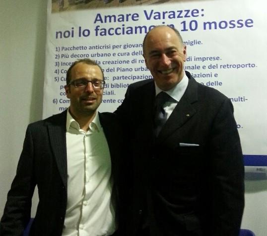 Il candidato sindaco Gianantonio Cerruti con Marco Melgrati capogruppo in Regione di Forza Italia
