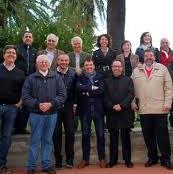 Alessandro Delicato, in una foto di gruppo,  il terzo in piedi prima fila, con l'onorevole Minasso e popolari esponenti del Pdl berlusconiano