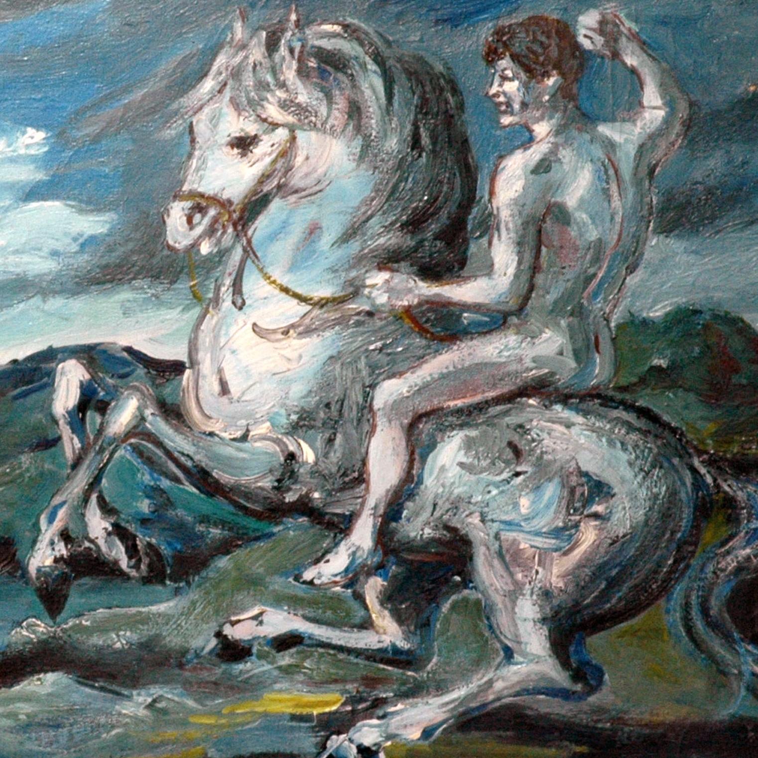 Albissola Marina Aligi Sassu olio tela cm50x70