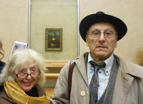 Raffaela e Gianni Colombo in viaggio di nozze a Parigi
