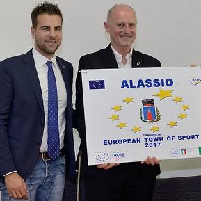 Alassio il sindaco Canepa, l'assessore Rossi 2016