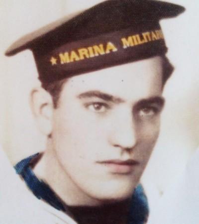 Corrado Giampieri da marinaio della Marina Militare Italiana