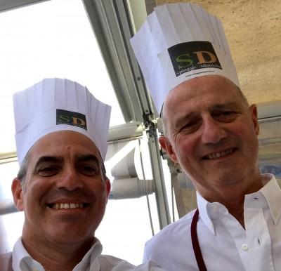 Che bravi chef i sindaci Canepa & Cangiano! Alassio e Albenga almeno uniti ai fornellicon la guida di un maestro di cucina coreano