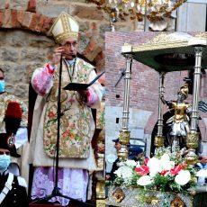 Albenga festa di San Michele in piazzacon le autorità di due provinceIl brindisi finale con Scajola sindaco