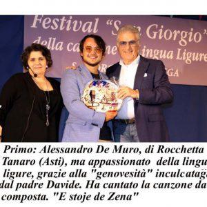 Festival Canzone Ligure, vince a sorpresa Alessandro piemontese. Migliore testo a bidello ingegnere. Premio a nonno Guido. E l'originalissima mostra alla Baseco